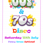60s and 70s Disco 15th July
